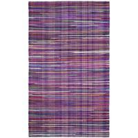 Safavieh Rag Cotton Rug Bohemian Handmade Purple/ Multi Cotton Rug (3' x 5')