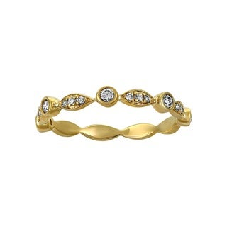 Beverly Hills Charm 14k Yellow Gold 1/4ct TDW Diamond Anniversary Band Ring