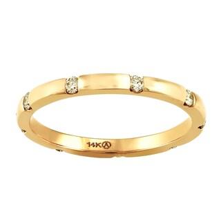 14k Yellow Gold 1/4ct TDW Diamond Eternity Band Ring