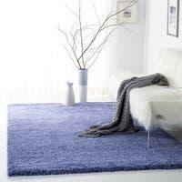 Safavieh California Cozy Plush Periwinkle Shag Rug (4' x 6')