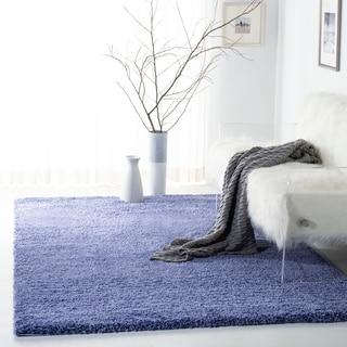 safavieh california cozy plush periwinkle shag rug 4u0027 x
