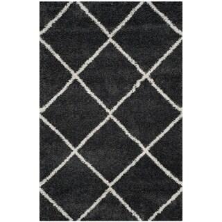 Safavieh Hudson Shag Estella Rug (4 x 6 - Dark Grey/Ivory)