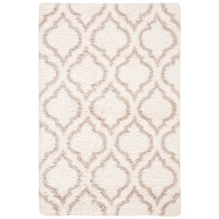 Safavieh Hudson Shag Moroccan Ivory/ Beige Rug (4' x 6')