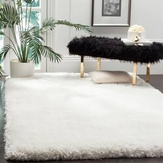 Safavieh Handmade Luxe Shag Super Plush Ivory Polyester Rug (4' x 6')|https://ak1.ostkcdn.com/images/products/13263313/P19975326.jpg?impolicy=medium