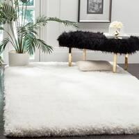 Safavieh Handmade Luxe Shag Super Plush Ivory Polyester Rug - 4' x 6'