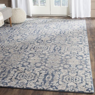 Safavieh Sofia Vintage Damask Blue/ Beige Distressed Rug (3' x 5')