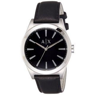 Armani Exchange Men's AX2323 'Smart' Black Leather Watch
