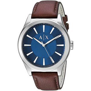Armani Exchange Men's AX2324 'Smart' Brown Leather Watch