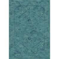 "Safavieh Vintage Oriental Turquoise Distressed Silky Viscose Rug - 3'3"" x 5'7"""