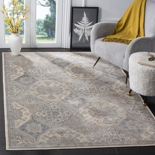 Safavieh Vintage Medallion Cream/ Blue Rug (3' 3 x 5' 7)