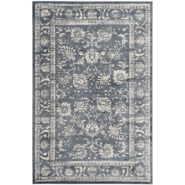 safavieh vintage oriental dark grey cream distressed rug 3u0026x273 x