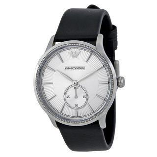 Emporio Armani Men's AR1797 'Classic' Black Leather Watch