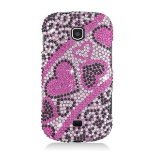 Samsung Galaxy Stellar Pink and Black TPU Diamond Heart Case