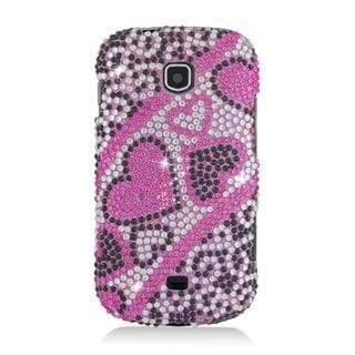 Samsung Galaxy Stellar Pink and Black TPU Diamond Heart Case