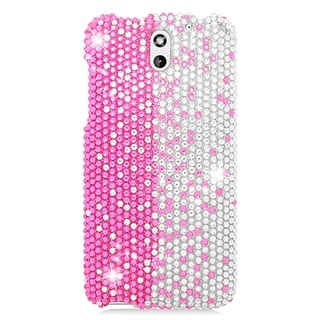 HTC Desire 610 Pink and Silver TPU Diamond Cover Case