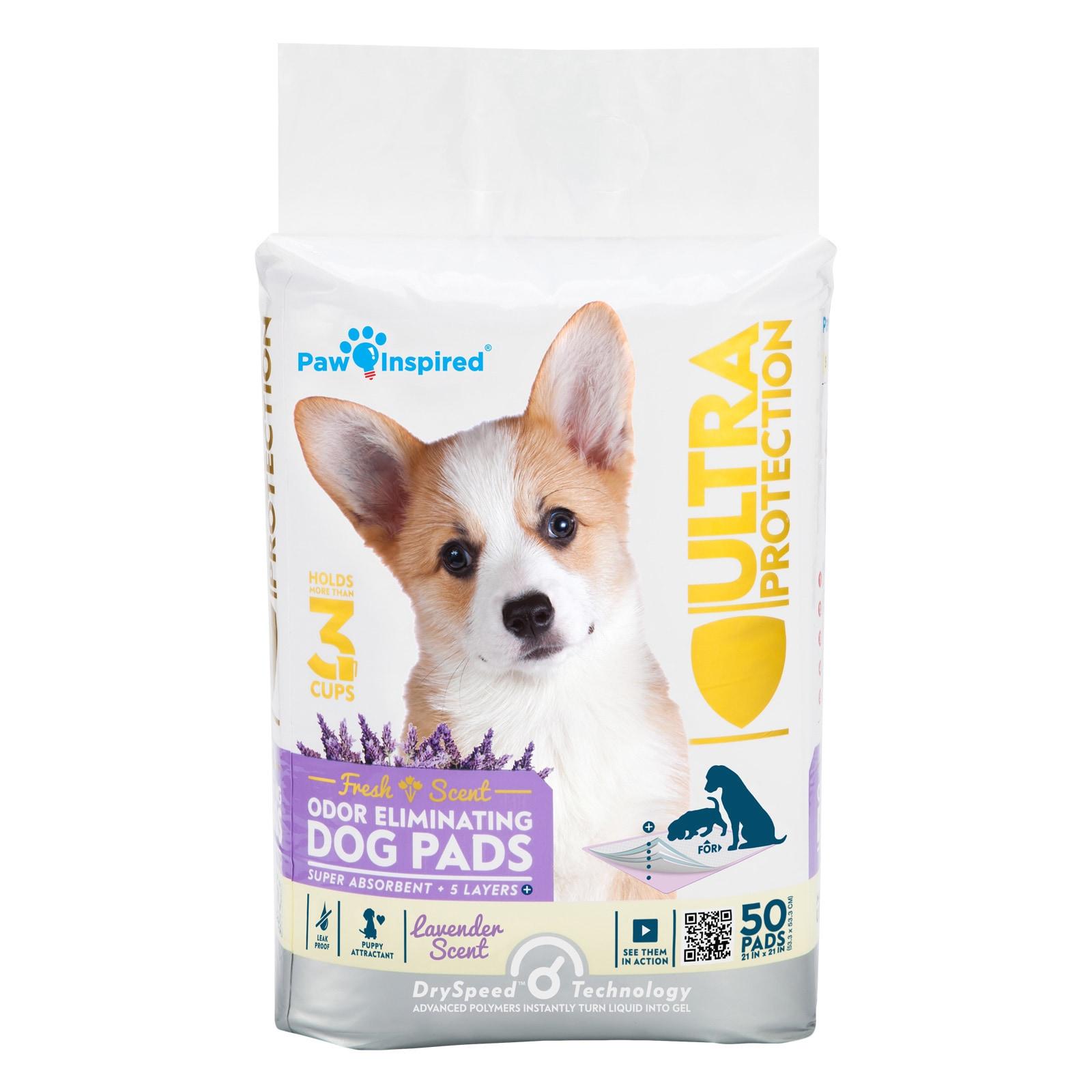 "100 21X21/"" Dog Cat Puppy Pet Potty Training Disposable Underpad Gel Pad Lavender"
