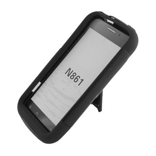 Hybrid TPU Bumper Case and Stand for ZTE Warp Sequent N861