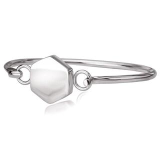 Avanti Sterling Silver High Polished Hexagon Junior Bangle Bracelet