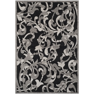 Safavieh Amherst Orpha Modern Indoor/ Outdoor Rug (5 x 8 - Anthracite/Light Grey)
