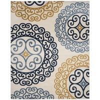 Safavieh Amherst Indoor/ Outdoor Ivory/ Gold Rug - 5' x 8'