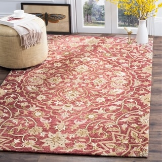 Christopher Kashan Hand Tufted Red Rug 8 X 10 Free