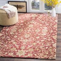 Safavieh Bella Contemporary Handmade Rose/ Taupe Wool Rug - 5' x 8'