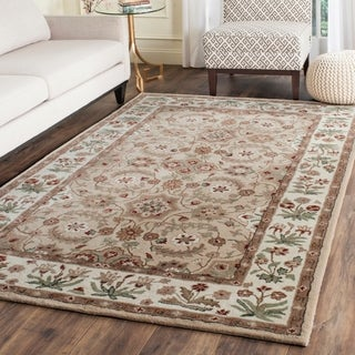 Safavieh Bella Contemporary Handmade Tan/ Ivory Wool Rug (5' x 8')