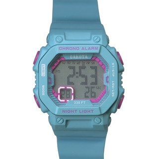 Dakota Kids and Teens Plastic and Stainless Steel Midsize Fun Color Digital Watch