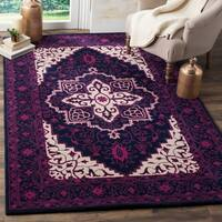 Safavieh Bellagio Handmade Bohemian Purple/ Ivory Wool Rug - 5' x 8'