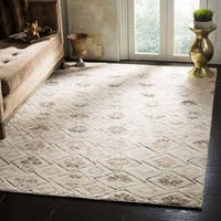 Safavieh Challe Contemporary Hand-Knotted Ivory Wool Rug (6' x 9')