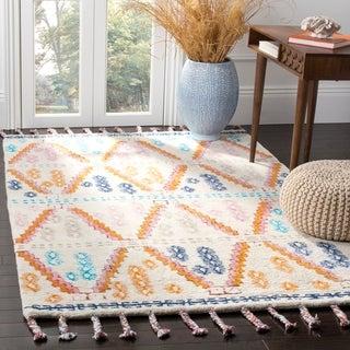 Safavieh Handmade Casablanca Shag Georgette Tribal Moroccan Wool Rug