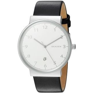 Skagen Men's SKW6291 'Ancher' Black Leather Watch