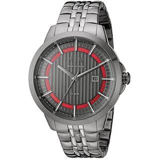 Armani Exchange Men's AX2262 'Smart' Grey Stainless Steel Watch