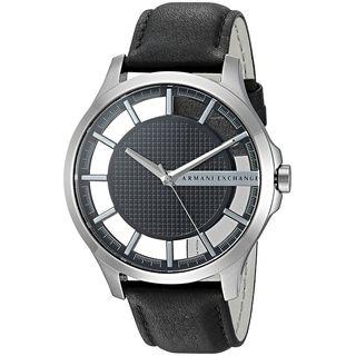 Shop Armani Exchange Men S Ax2186 Smart Black Leather