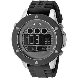 Armani Exchange Men's AX1560 'Active' Digital Black Silicone Watch