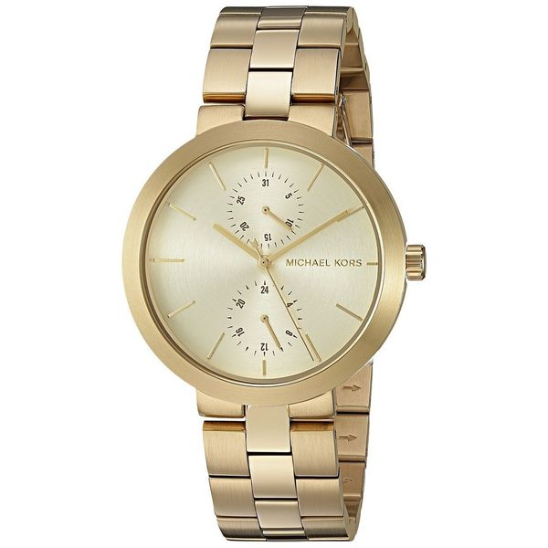 1e9579baa Shop Michael Kors Women's MK6408 'Garner' Chronograph Gold-Tone Stainless Steel  Watch - Free Shipping Today - Overstock - 13267061