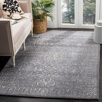 Safavieh Handmade Glamour Contemporary Steel/ Blue Viscose Rug - 6' x 9'