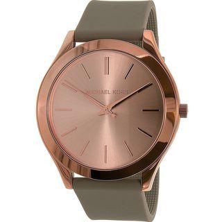Michael Kors Women's MK2512 'Slim Runway' Grey Silicone Watch