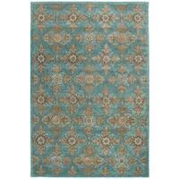 Safavieh Heritage Traditional Handmade Turquoise/ Multi Wool Rug - 5' x 8'