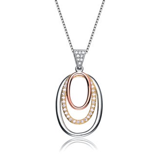 Collette Z Sterling Silver and Rose Gold Overlay Necklace