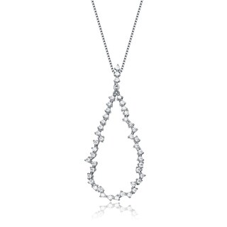 Collette Z Sterling Silver Cubic Zirconia Loop Necklace - White