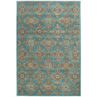 Safavieh Heritage Traditional Handmade Turquoise/ Multi Wool Rug (6' x 9')