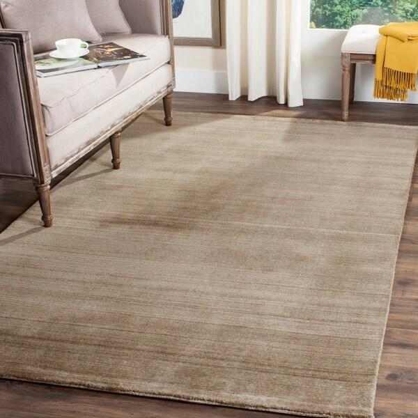 Area Rugs Home Goods: Shop Safavieh Handmade Himalaya Taupe Wool Area Rug