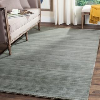 Safavieh Handmade Himalaya Slate/ Blue Wool Area Rug (6' x 9')