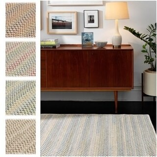 """Oakmont Multicolor Wool Reversible Braided Area Rug (2'3 x 3'10) - 2'3"""" x 3'10"""""""