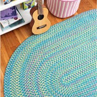 Emily Chenille Multicolor Braided Reversible Rug USA MADE - 8' x 10'