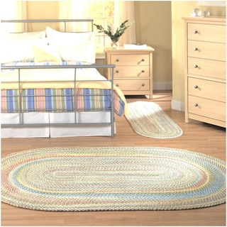 Emily Chenille Multicolor Braided Rug (3' x 5')