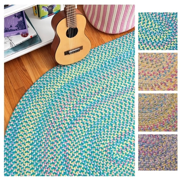 Emily Chenille Multicolor Braided Rug (5' x 7') - 5' x 7'