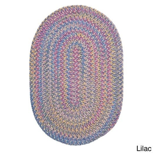 Colonial Mills Emily Chenille Multicolor Braided Rug (6' ...