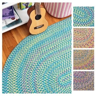 Emily Chenille Multicolor Braided Rug - 6' x 8' (3 options available)